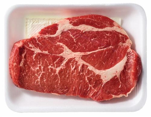 Beef Choice Shoulder Steak (1 Steak) Perspective: left