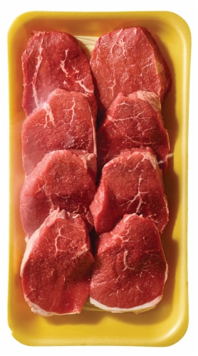 Beef Choice Eye of Round Steak Value Pack (6-8 per Pack) Perspective: left
