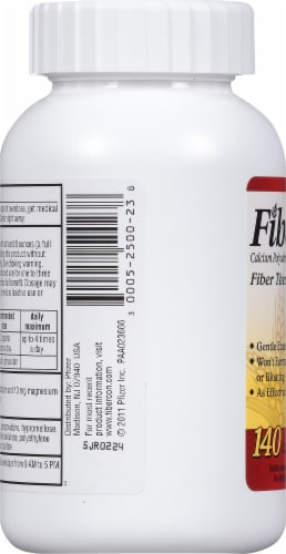 Fibercon Fiber Therapy for Regularity Calcium Polycarbophil Caplets Perspective: left