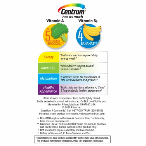 Centrum Women Multivitamin & Multimineral Supplement Tablets Perspective: left