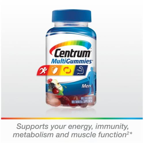 Centrum MultiGummies Assorted Natural Fruit Flavored Men Multivitamin Gummies Perspective: left