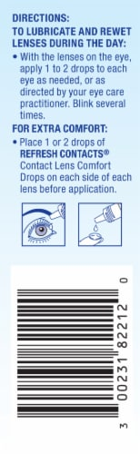 Refresh Contacts Lens Comfort Eye Drops Perspective: left