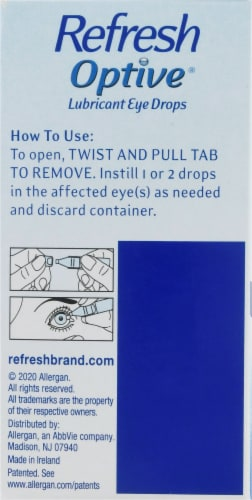 Refresh Optive Sensitive Lubricant Eye Drops Perspective: left