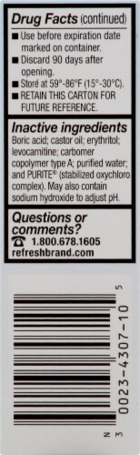 Refresh Optive Advanced Triple-Action Relief Lubricant Eye Drops Perspective: left