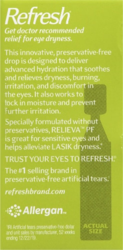 Refresh Relieva PF Lubricant Eye Drop Vials Perspective: left