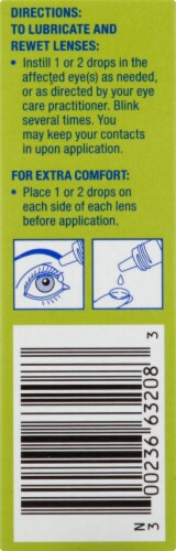 Refresh Relieva for Contacts Lubricant Eye Drops Perspective: left