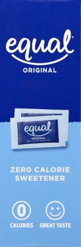 Equal Zero Calorie Sweetener Packets Perspective: left