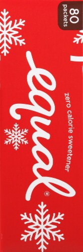 Equal Peppermint Mocha Zero Calorie Sweetener Packets 80 Count Perspective: left