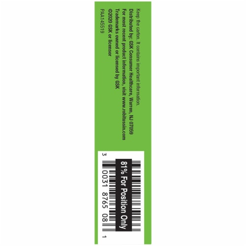 Robitussin 12 Hour Cough & Mucus Relief Extended-Release Tablets Perspective: left