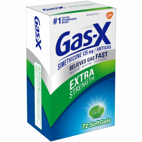 Gas-X Extra Strength Antigas Softgels Perspective: left