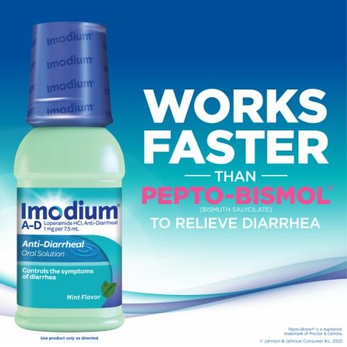 Imodium A-D Mint Flavor Anti-Diarrheal Oral Solution Perspective: left