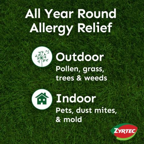 Zyrtec Indoor & Outdoor Allergy Relief Tablets 10mg Perspective: left