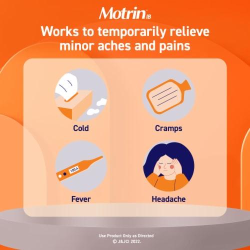 Motrin Liquid Gels Ibuprofen Capsules 200mg Perspective: left