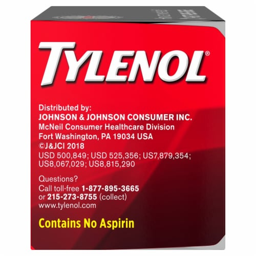 Tylenol Extra Strength Pain Reliever & Fever Reducer Rapid Release Gelcaps 500mg Perspective: left