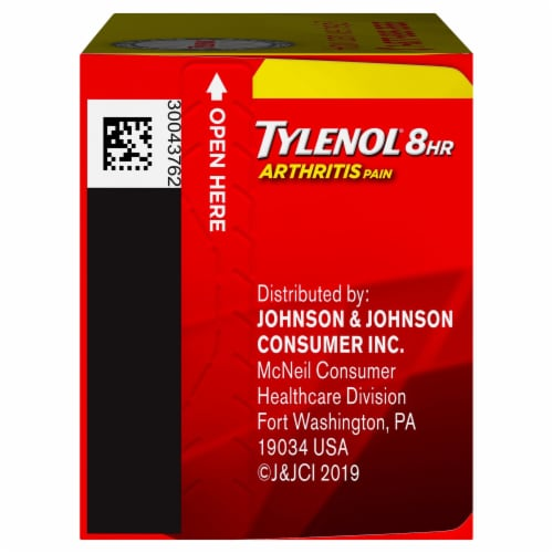 Tylenol 8-Hour Arthritis Pain Extended Release Caplets 650 mg Perspective: left