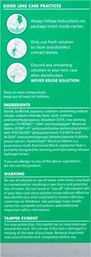 Opti-Free PureMoist Multi-Purpose Disinfecting Solution Perspective: left