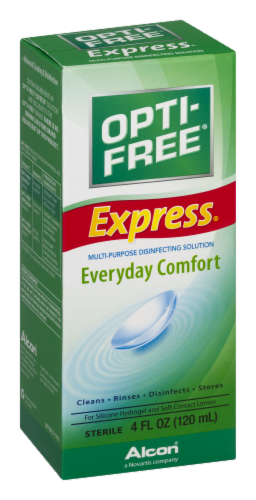 Alcon Opti-Free Express Everyday Comfort Multi-Purpose Solution Perspective: left