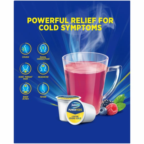 Theraflu Daytime Severe Cold Power Pods 8 Count Perspective: left