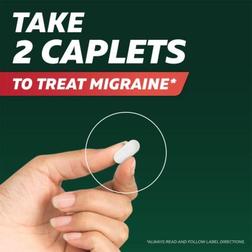 Excedrin Migraine Caplets Perspective: left