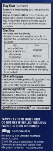 Theraflu Flu & Sore Throat Apple Cinnamon Powder Perspective: left