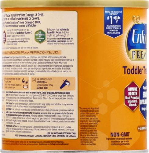Enfagrow Premium Toddler Transitions Powder Formula Perspective: left