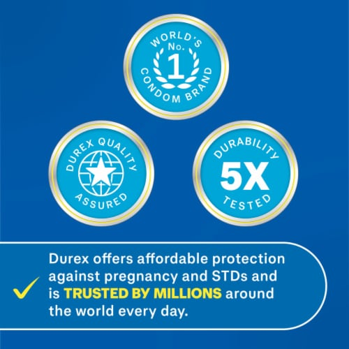 Durex Invisible Ultra Thin Ultra Sensitive Lubricated Latex Condoms Perspective: left