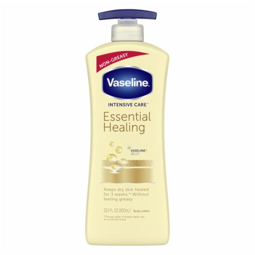 Vaseline® Intensive Care Essential Healing Body Lotion Perspective: left