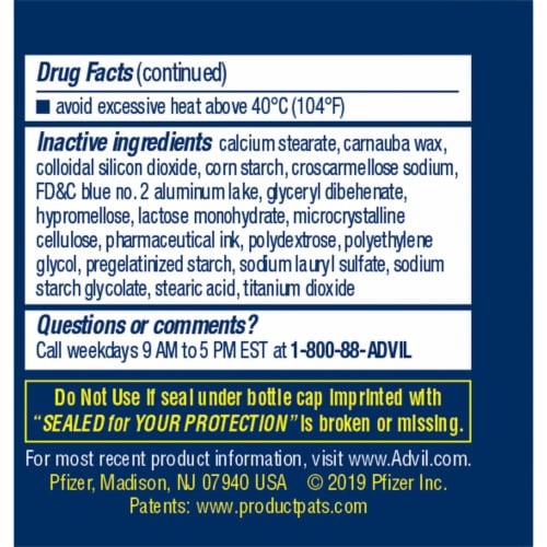 Advil PM Ibuprofen Coated Caplets 200mg Perspective: left