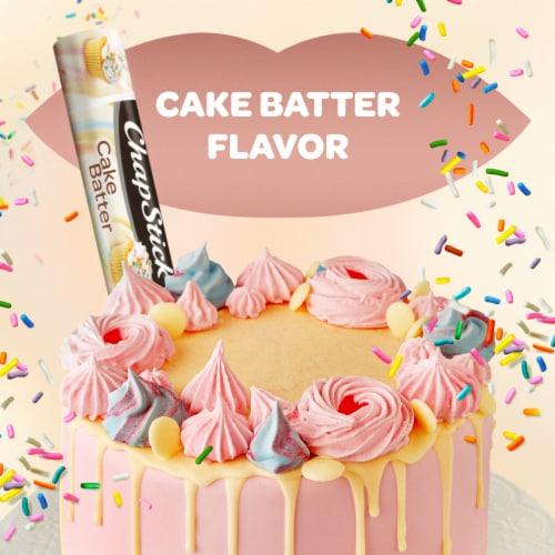 ChapStick Cake Batter Lip Balm Perspective: left