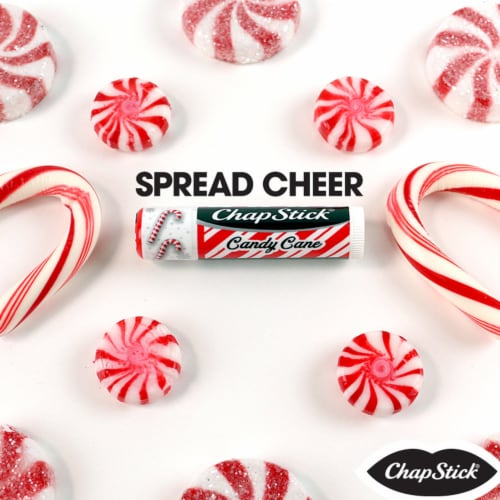 Chapstick Holiday Collection Candy Cane Lip Balm Tripack Perspective: left