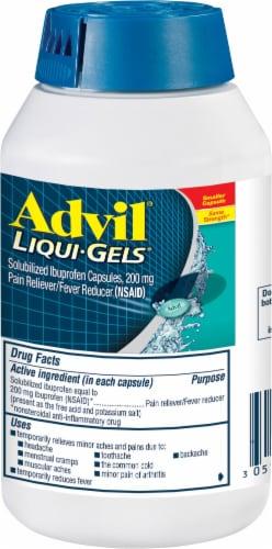 Advil Liqui-Gels Minis Ibuprofen Liquid Capsules 200mg Perspective: left