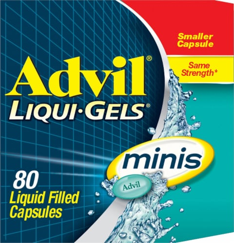 Advil Liqui-Gels Minis Liquid Filled Capsules 200mg Perspective: left