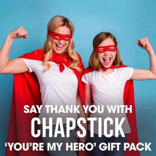 ChapStick You're My Hero Moisturizing Lip Balm Pack Perspective: left