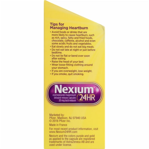 Nexium 24-Hour Delayed Release Heartburn Relief Capsules 20mg Perspective: left
