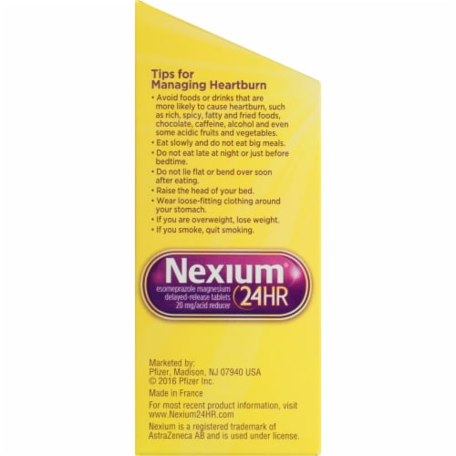 Nexium 24-Hour Delayed Release Acid Reducer Tablets Perspective: left