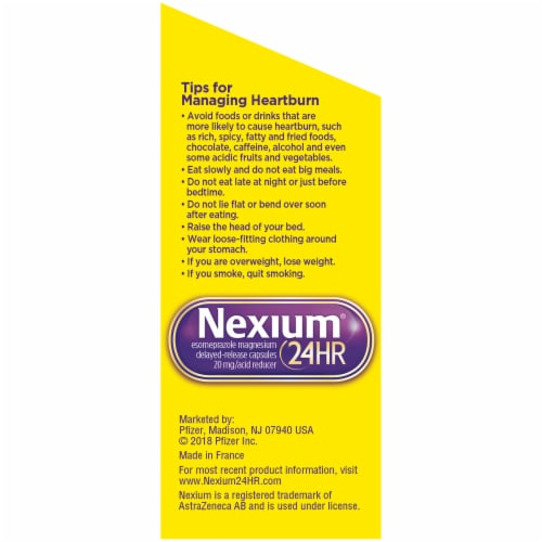 Nexium 24-Hour Clear Minis Delayed Release Heartburn Relief Capsules Perspective: left