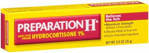 Preparation H Anti-Itch Hemorrhoid Treatment Cream with Hydrocortisone 1% Perspective: left
