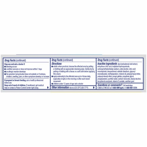 Preparation H Rapid Relief with Lidocaine Hemorrhoidal Cream Perspective: left