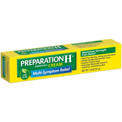 Preparation H Hemorrhoidal Cream with Aloe Perspective: left