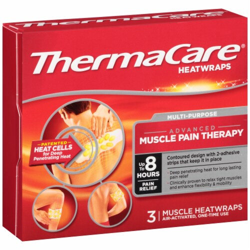 ThermaCare Multi-Purpose Advanced Muscle Pain Therapy Heatwraps Perspective: left