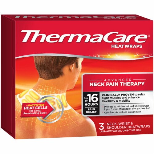ThermaCare Neck Wrist & Shoulder Pain Therapy Heatwraps Perspective: left