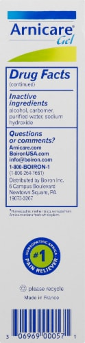 Boiron Arnicare Pain Relief Gel Value Size Perspective: left