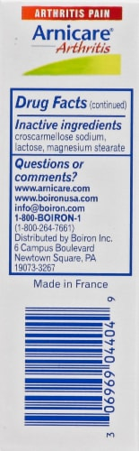 Boiron Arnicare Arthritis Homeopathic Tablets Perspective: left