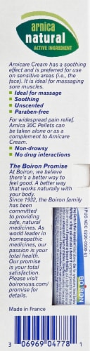 Boiron Arnicare Homeopathic Pain Relief Cream Perspective: left