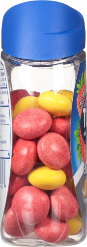 Tums with Gas Relief Lemon & Strawberry Chewy Bites Antacids Perspective: left