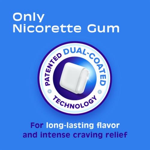 Nicorette White Ice Mint Nicotine Gum 2mg Perspective: left