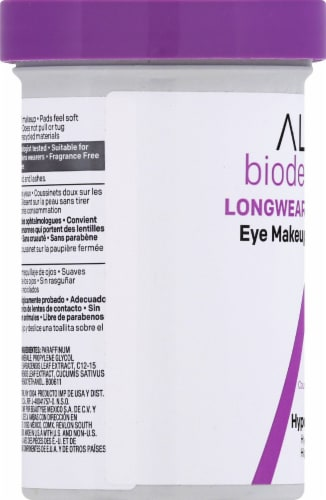 Almay Biodegradable Eye Makeup Remover Pads Perspective: left
