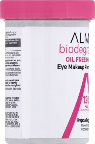Almay Biodegradable Oil Free Micellar Eye Makeup Remover Pads Perspective: left