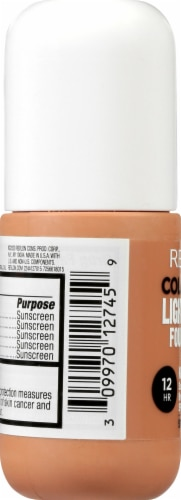 Revlon ColorStay Cappucino Light Coverage Foundation Perspective: left