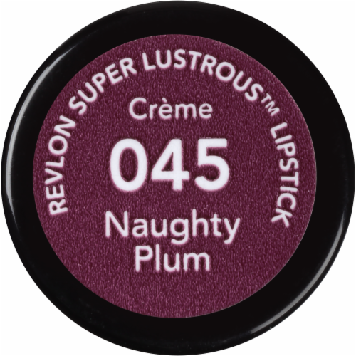 Revlon Super Lustrous Naughty Plum Lipstick Perspective: left